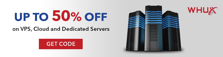 50% off Web Hosting UK VPS, Cloud and Dedicated Servers