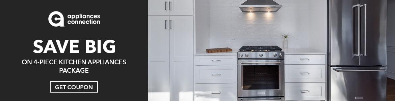 Save Big On 4-Piece Kitchen Appliances Package. Shop Now