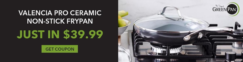 Shop Our Valencia Pro Ceramic Non-Stick Frypan Just In $39.99